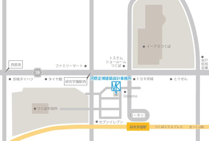 河野正博建築設計事務所近辺の詳細図